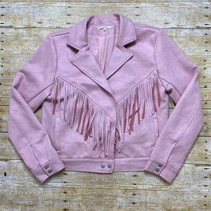 NWT Tularosa faux suede fringe jacket